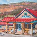 """Wendy Ahlm - """"Hot Springs, Cool Town"""" Jemez Paint Out and Show"""