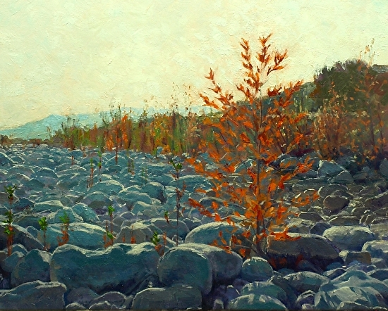 Ventura River Bed Summer - Oil