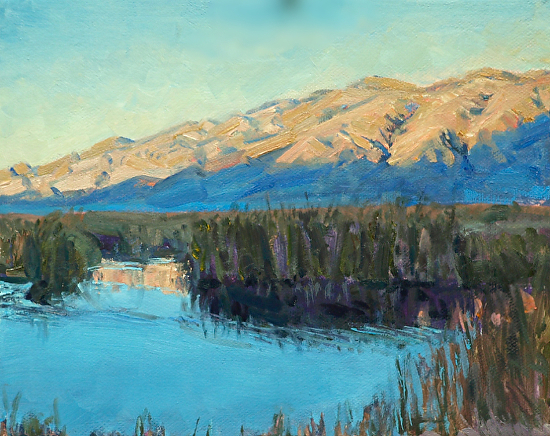 Blackrock Wetlands, Owens Valley - Oil