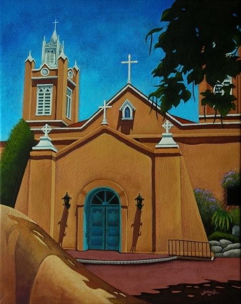 San Felipe de Neri - acrylic painting by Gayle Faucette Wisbon