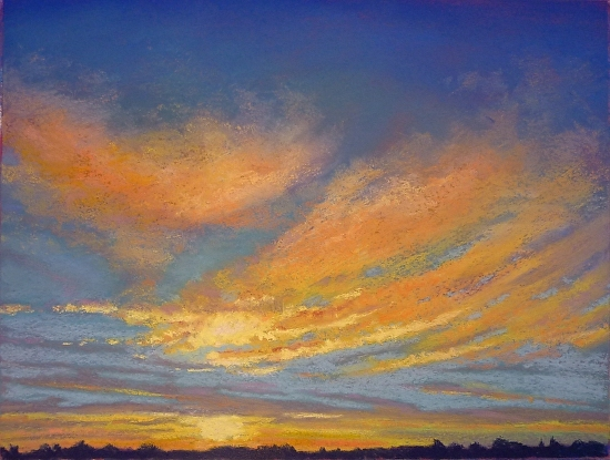 Sunrise Glory - pastel art by Regina Burchett