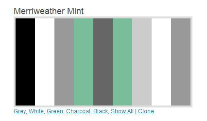 four newly released color palettes for your faso website mint green colour palette - Mint Green Color Scheme
