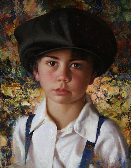 Le Chapeau by Timothy C. Tyler Oil ~ 16 x 12