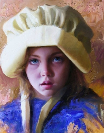 Olivia by Timothy C. Tyler Oil ~ 14 x 11