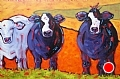 """The Greeting Committee"" by Dianna Fritzler Oil ~ 24"" x 36"""