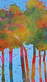 """In the Aspens"" by Dianna Fritzler Oil ~ 66"" x 38"""