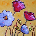 """Poppy Dance"" by Dianna Fritzler Oil ~ 12"" x 12"""