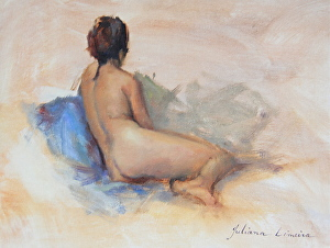 Modelo Nua by Juliana Limeira Oil ~ 26,5 cm 10'' x 34 cm 14''