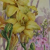 day lily tile 8x10 porcelain