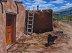 Taos Pueblo Dog - Shown without Frame by Daniel Fichten