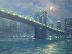 Moonlight Brooklyn Bridge by Michael Budden