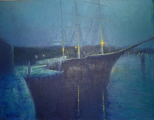 Mystic At Night by Michael Budden Oil ~ 14 x 18