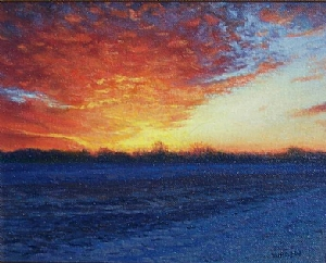Fire and Ice by Michael Budden Oil ~  x