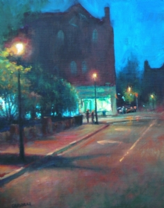 """Easton Evening I"" Honorable Mention Award Easton Plein Air Festival by Michael Budden Oil ~ 14 x 11"