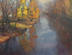 November Colors by Michael Budden Oil ~ 6 x 8