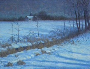 "Bucks County Nights by Michael Budden Oil ~ 11"" x 14"""