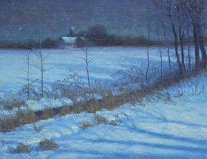 "Bucks County Nights by Michael Budden Oil ~ 11"" x 14"""