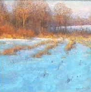 """Winter Song by Michael Budden Oil ~ 8"""" x 8"""""""