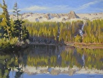 Twin Lakes by John White Oil ~ 9 x 12