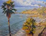 Laguna Beach View by John White Oil ~ 14 x 18