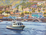 Ideal Day in Avalon by John White Oil ~ 18 x 24