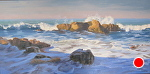 Cold Feet by John White Oil ~ 15 x 30