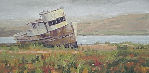 Point Reyes by John White Oil ~ 20 x 10