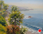 Facing South, Laguna Beach by John White Oil ~ 8 x 10