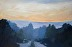 Fog Bank at Dusk 24x36 by Barbara Bailey-Porter