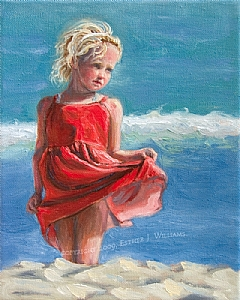 Sweet Innocence by Esther J. Williams Oil ~ 10 x 8