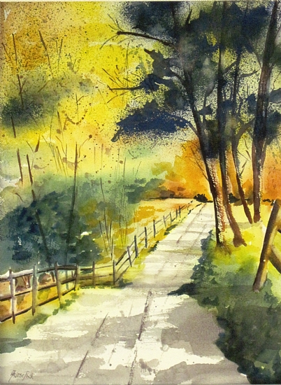 Country Road - Watercolor