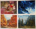 Small Palette Knife Paintings-Class Demos by Venture Coy Oil ~ 8 x 10