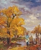 "American Indians, Cottonwood Trees by Beatrice Athanas Oil ~ 24"" x 20"""