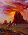 "AmericanIndian, Navajo Country by Beatrice Athanas Oil ~ 30"" x 24"""