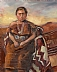 "AmericanIndian, Navajo Squaw by Beatrice Athanas Oil ~ 20"" x 16"""