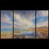 "Wattenmeer_Zapp, ""Where Sky and Earth meet""... by Beatrice Athanas Oil ~ 76"" x 46"""