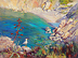 "Bird's Eye View by Beatrice Athanas Oil ~ 24"" x 18"