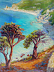 "Kefalonia Beach, Greece by Beatrice Athanas Oil ~ 24"" x 18"