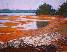 Maine Coast by Deborah Maklowski Pastel ~ 10 inches x 13 inches
