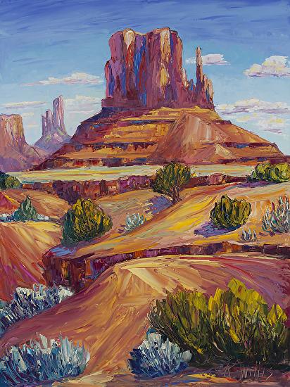 Desert Monument - Oil