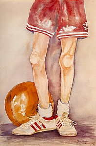 """Growin` up a Hoosier"" by susie gregory Watercolor ~ 18 x 14"