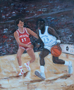 danny dakich the legend by susie gregory Oil ~ 24 x 18