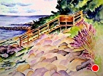 """commission March 1, 2013 by Sandy Ryan Watercolor ~ 12' x 16"""""""
