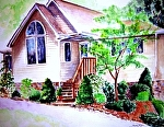 """Country Life by Sandy Ryan Watercolor ~ 12"""" x 16"""""""