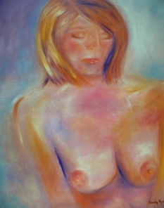"Just Dozing by Sandy Ryan Oil ~ 24"" x 20"""