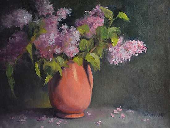 Spring Lilacs - Oil
