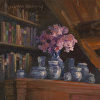 Cottage Volumes, Blossoms, Vase & Jars