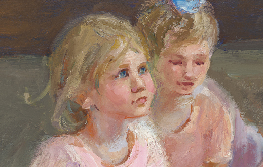 Two Ballerinas, detail -