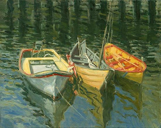 Three Boats, Lunenburg - Oil