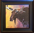 Moose by Adele Earnshaw Oil ~ 7 x 7